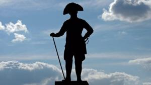 Statue of Frederick the Great at Zinna Monastery (photo: picture-alliance/dpa)