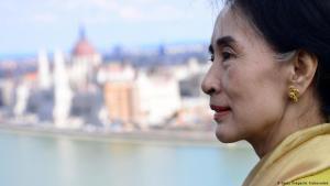 Aung San Suu Kyi in Budapest (photo: Getty Images/A. Kisbenedek)