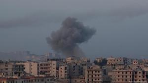 Air raids in Kafr Hamrah near Aleppo on 28.02.2019 (photo: picture-alliance/abaca)