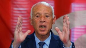 Constitutional law professor and presidential frontrunner Kais Saied (photo: Reuters/M. Hamed)
