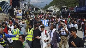 Protest march in Pakistani Kashmir (photo: picture-alliance/AP Photo)
