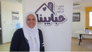 Reem Al Farangi from Gaza, founder of Habaybna.net (photo: Claudia Mende)