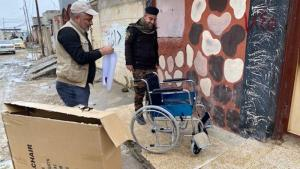 Wheelchairs arrive in Mosul (photo: RIRP)