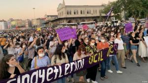 After the murder of Pinar Gültekin, thousands of women took to the street in Istanbul calling for greater protection for women (photo: DHA)