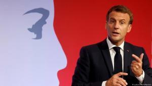 France, Les Mureaux: speech by President Macron (photo: Ludovic Marin/Reuters)