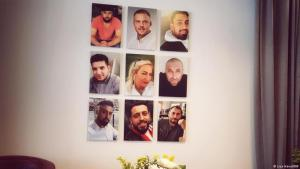"The ""Initiative 19. Februar"" displays photos of the nine victims of the Hanau attack on its walls (photo: Lisa Hänsel/DW)"