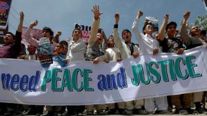 Protests in Kabul against attacks on the Hazara minority in Pakistan (photo: Reuters)