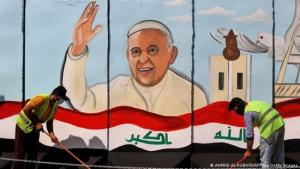 Billboard to mark Pope Francis' visit to Iraq (photo: Ahmad Al-Rubaye/AFP/Getty Images)