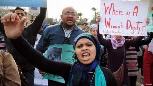 Women protesting in Cairo in 2012 (photo: dapd)