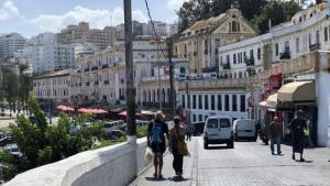 View of Tangier's harbour promenade (photo: Karima Ahdad)