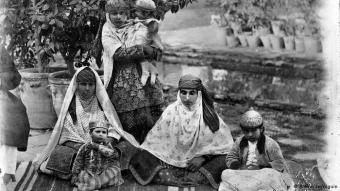 A photo of women in the Qajari era, taken by Antoin Sevruguin, Iran's leading photographer at the turn of the twentieth century