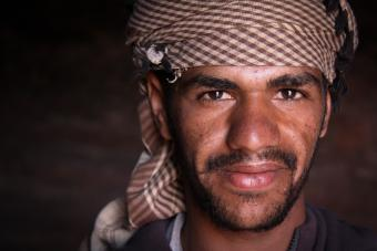 Many Bedouins have settled in government-provided housing in Umm Sayhoun, a village near Petra, Jordan's most important tourist attraction. During the day, they work at the Petra site, welcoming or transporting visitors
