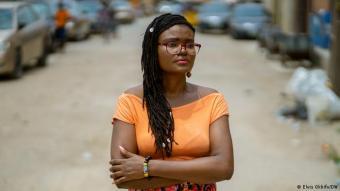 Nigerian investigative reporter and DW's 2021 Freedom of Speech Award winner Tobore Ovuorie (photo: Elvis Okhifa/DW)